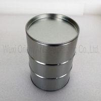 Diameter 90mm Round Slide Tin Box with beadings