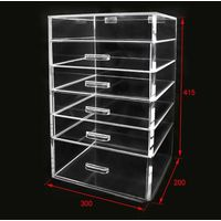 hot sale high quality transparent acrylic cube makeup organizer