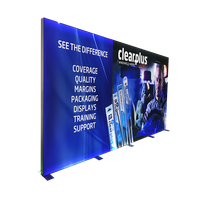 Display usage floor standing double sided illuminated outdoor led light box thumbnail image