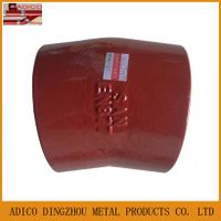 EN877 red epoxy painting cast iron bend pipe fitting
