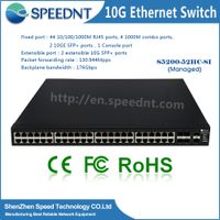 OEM 48 Port 10/100/1000Mbps network Switch+4 10G SFP+ ports Gigabit Combo
