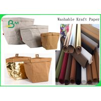 Whable Karft Paper / Thickbness 0.55MM 0.8MM Whable Karft Paper Fiber For Making Bags