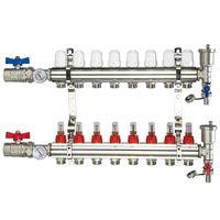 "Brass Manifold - 8 Loops 1"" & 1/2"" NPT"