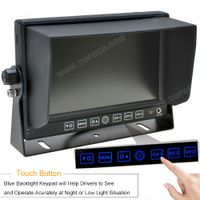 7 Inches Touch Button TFT Digital LCD Monitor with 3 video input (TOP-D7001) thumbnail image