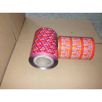 Printed  Aluminum plastic roll lid film for food package