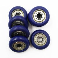Carbon / Chrome Steel Ball Bearing With Pom Costing pulley Wheel