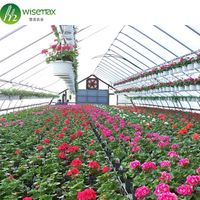 Factory price plastic agriculture greenhouse farming equipment with low cost thumbnail image