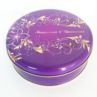Big Round Storage Tin Box for Gifts
