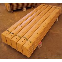 Double bevel curved grader blades