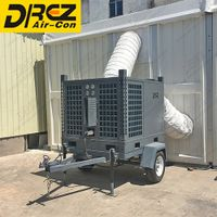 Floor Standing Tent AC Unit Horizontal Evaporative Air Cooling Commercial Dome Tent Use