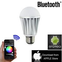 Smartphone controlled E27 7w RGB bluetooth led bulb