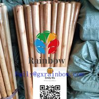 Smooth Surface varnished wooden broom handles painted wooden broom stick