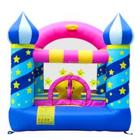 Inflatable residential castle jumping moonwalk
