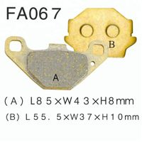 Wholesale motorcycle brake pads for SUZUKI GN125 GS125 GSX 250 400 wholesale factory price