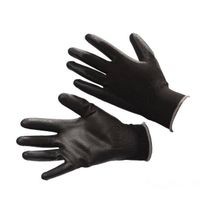 13 Guage black nylon liner with black pu coating gloves thumbnail image