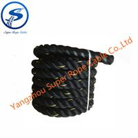 fitness rope,outdoor training rope,Black high strength fitness battle rope,Power Training Strength F