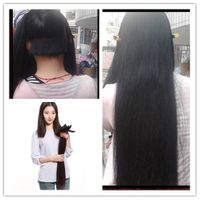 Direct hair factory double drawn remy wholesale price human hair clip in extensions