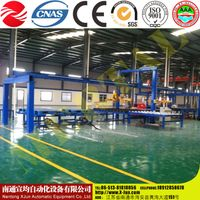 CNC hydraulic four roll plate bending/rolling machine,Gas cylinders production line