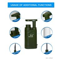 Multi function Mini outdoor water filter OEM