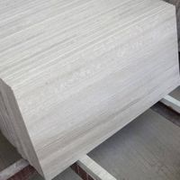 Wood White Marble Slab