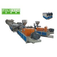 SJZS PVC Foam Making Machine With Double Screw Extruder , T-die 5 ~ 25mm