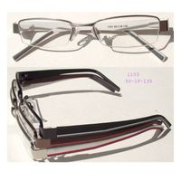 optical frames with rubber spring temples