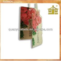 garment paper hangtags with string for jeans in guang zhou