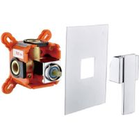 Contemporary chrome brass in-wall single function concealed mixer diverter thumbnail image