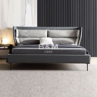 Continental Design Bed beige upholstered bed Customized color Fabric Bed Fabric Bed thumbnail image