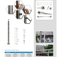 stainless steel indoor outdoor cable baluster and balustrade