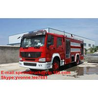 4*2 HOWO 8000L water and foam fire truck
