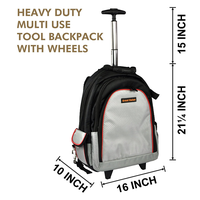 tool backpack,tool bag,heavy duty trolley tool backpack,tool backpack with wheels thumbnail image