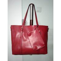 2pcs/set Women Handbags PU Leather Lady Tote Shoulder Bag Handbags Top-Handle Bags
