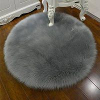 3030CM Soft Artificial Sheepskin Rug Chair Cover Bedroom Mat Artificial Wool Warm Hairy Carpet Seat thumbnail image