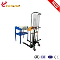 Manual Hydraulic Crucible Pot Trolley Loader for Fire Assay Laboratory