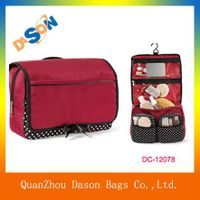 Hot sale polyester  folding women cosmetic bag