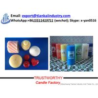scented multi-colored pillar shaped votive aromatic candles thumbnail image