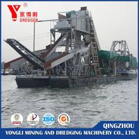 Bucket wheel  gold dredger for sale