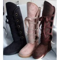 Lace-up Warm Snow Knee High Boots for Winter