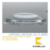 63mm  car led head lamp glass lens