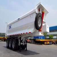 3 axles u shape dump trailer tipper trailer thumbnail image