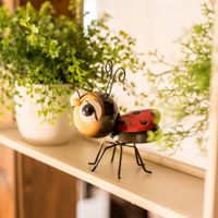 Cheap custom metal 3d ladybug modern home accessories decoration