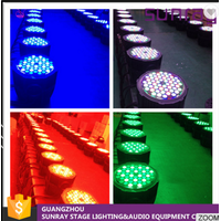Waterproof High Brightness Par Can Stage Lamp Dmx512 8 Channels Control 54 Pcs Led Waterproof Par Li