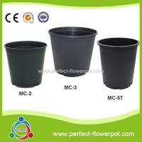 Round Black Plastic Nursery Pots-Gallon Pots- Garden Nursery Pots