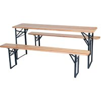 Outdoor Folding Picnic Wooden Beer Table and Bench whith factory price