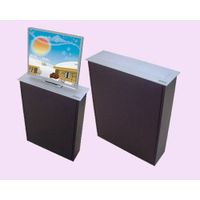 LCD monitor motorized lift mechanism for bank