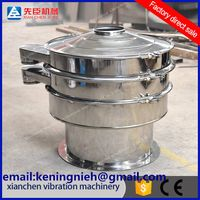 Rotary vibrating screen for the powder, nubble, particle and solid-liquid sieving