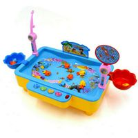 2020 New Arrival Fishing Toys Child Music USB Electronic Fishing Platform Spin Magnetic Toy