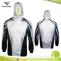 Custom 100%polyester Tournament Fishing clothing with hoodies