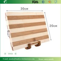 Beautiful Bamboo Wood Cutting Board & Serving Platter Set